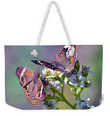 Weekender Tote Bag featuring the photograph We Make A Beautiful Pair by Deena Stoddard