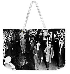 We Want Beer Weekender Tote Bag by Jon Neidert