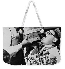 We Want The Beer Weekender Tote Bag by Jon Neidert