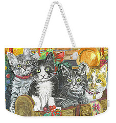 Weekender Tote Bag featuring the painting In Harmony by Carol Wisniewski