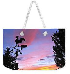 Weather Vane Sunset Weekender Tote Bag by Phyllis Kaltenbach