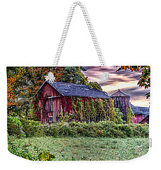 Weathered Connecticut Barn Weekender Tote Bag