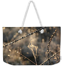 Weekender Tote Bag featuring the photograph web by David S Reynolds