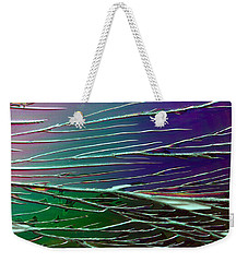 Webs Of Green And Purple Weekender Tote Bag