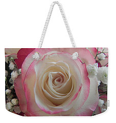 Weekender Tote Bag featuring the photograph Wedding Bouquet by Deb Halloran