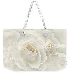 Wedding Day White Roses Weekender Tote Bag