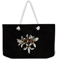 Weed On Black Weekender Tote Bag by Mim White