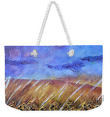 Weekender Tote Bag featuring the painting Weeds Among The Wheat by Jocelyn Friis