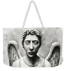 Weeping Angel Don't Blink Doctor Who Fan Art Weekender Tote Bag by Olga Shvartsur