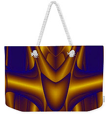 Weekender Tote Bag featuring the painting Weightlifter by Rafael Salazar