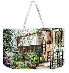 Weekender Tote Bag featuring the painting Welcome Home by Barbara Jewell