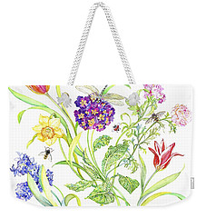 Welcome Spring I Weekender Tote Bag by Kimberly McSparran