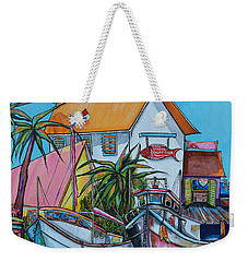Weekender Tote Bag featuring the painting Welcome To Paradise by Patti Schermerhorn