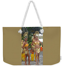 Welcome To The Islands Weekender Tote Bag by Ann Johndro-Collins