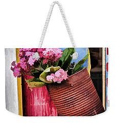 Welcoming Flowers Weekender Tote Bag by Gary Slawsky
