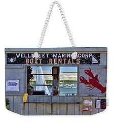 Wellfleet Harbor Thru The Window Weekender Tote Bag