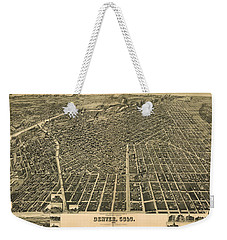 Wellge's Birdseye Map Of Denver Colorado - 1889 Weekender Tote Bag