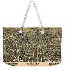 Wellge's Birdseye Map Of Denver Colorado - 1889 Weekender Tote Bag by Eric Glaser