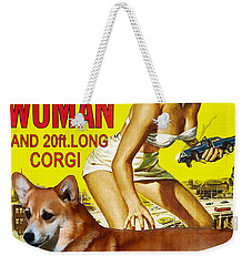 Welsh Corgi Pembroke Art Canvas Print - Attack Of The 50ft Woman Movie Poster Weekender Tote Bag