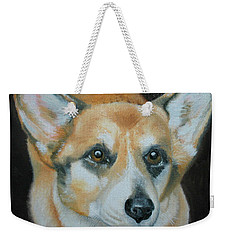 Weekender Tote Bag featuring the painting Welsh Corgi by Thomas J Herring