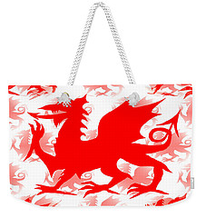 Welsh Dragon Weekender Tote Bag