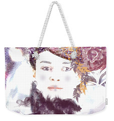 Weekender Tote Bag featuring the digital art Wendy Waits by Kim Prowse