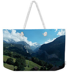 Wengen View Of The Alps Weekender Tote Bag