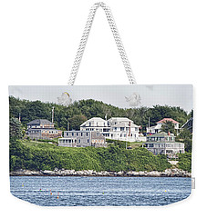 Weekender Tote Bag featuring the photograph West End Long Island Maine by Richard Bean