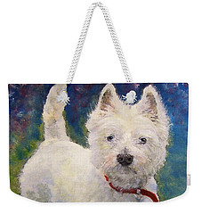 West Highland Terrier Holly Weekender Tote Bag
