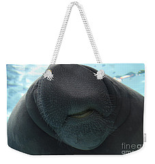 West Indian Manatee Smile Weekender Tote Bag by Meg Rousher