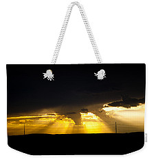 Weekender Tote Bag featuring the photograph West Of Town by Ben Shields