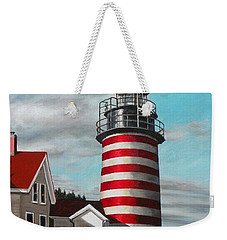 West Quoddy Head Lighthouse Weekender Tote Bag by Eileen Patten Oliver