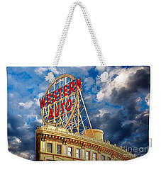 Western Auto Sign Downtown Kansas City Weekender Tote Bag