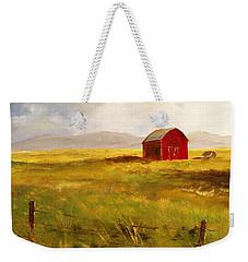 Western Barn Weekender Tote Bag by Lee Piper