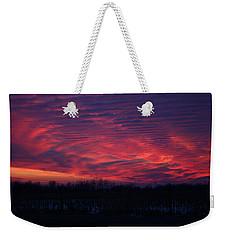 Western Evening Weekender Tote Bag