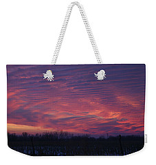 Weekender Tote Bag featuring the photograph Western Evening Wide Open by Ben Shields