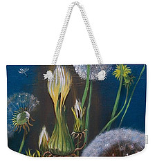 Weekender Tote Bag featuring the painting Western Goat's Beard Weed by Sharon Duguay
