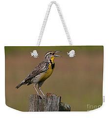 Western Meadowlark.. Weekender Tote Bag