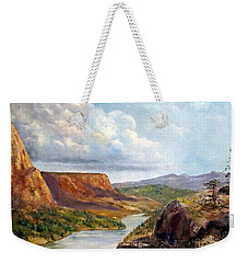Western River Canyon Weekender Tote Bag