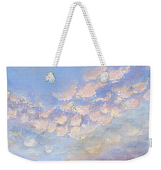 Weekender Tote Bag featuring the painting Western Sunset by Margaret Bobb