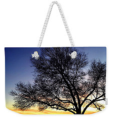 Weekender Tote Bag featuring the photograph Western Sunset by Marilyn Hunt