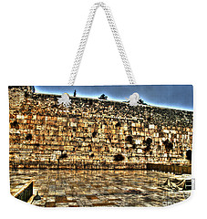 Weekender Tote Bag featuring the photograph Western Wall In Israel by Doc Braham
