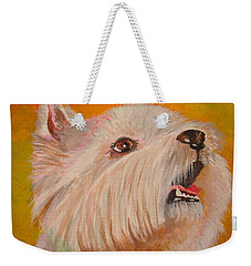 Westie Portrait Weekender Tote Bag by Tracey Harrington-Simpson