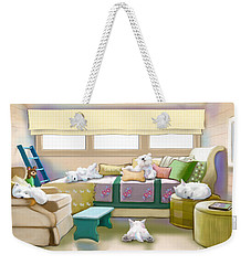 Westie Retreat  Weekender Tote Bag