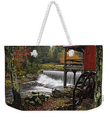 Weston Grist Mill Weekender Tote Bag by Priscilla Burgers