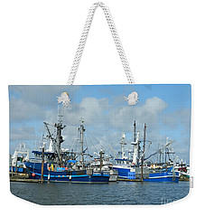 Westport Fishing Boats Weekender Tote Bag