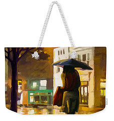 Wet Night Weekender Tote Bag