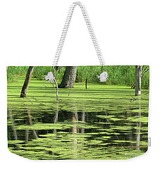 Weekender Tote Bag featuring the photograph Wetland Reflection by Ann Horn