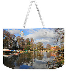 Wey Canal Surrey England Uk Weekender Tote Bag