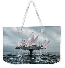 Weekender Tote Bag featuring the pyrography Whale by Evgeniy Lankin